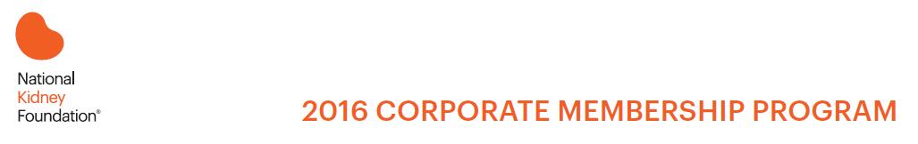 2016 Corporate Membership Program