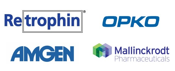 Sponsor logos for Retrophin, Amgen, OPKO and Mallinkdrockt Pharmaceuticals