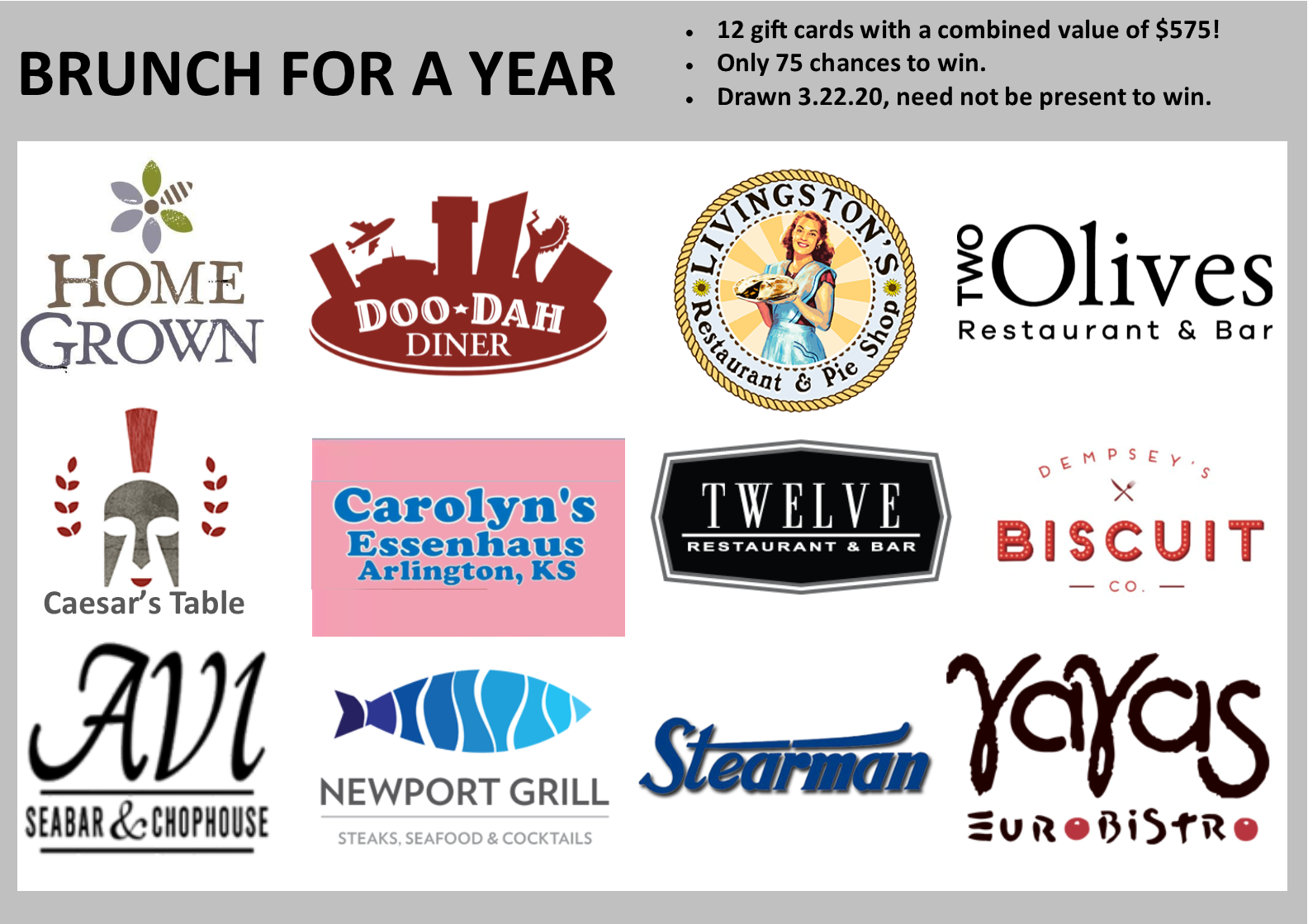 Don't miss your chance to win Brunch For A Year!