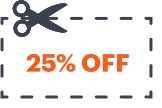 coupon 25% off