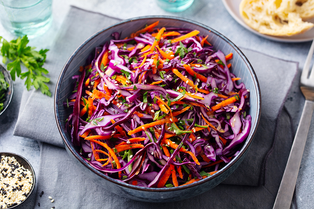 Ginger Roasted Chicken with an Asian Slaw
