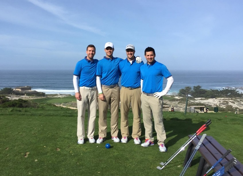 Golfers Compete in Pebble Beach