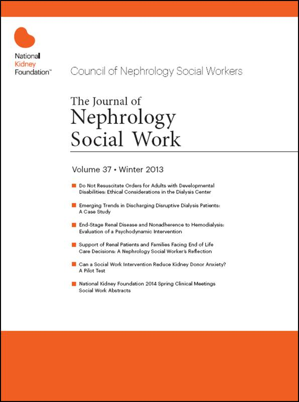 The Journal Of Nephrology Social Work