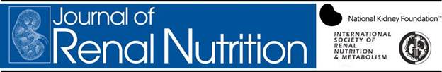 CRN Journal of Renal Nutrition