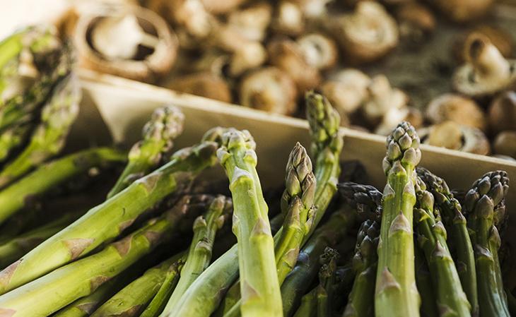 Roasted Asparagus and Wild Mushroom Stew