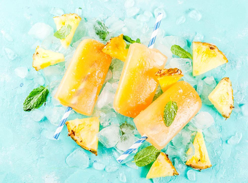 Pineapple Frangelico Sorbet