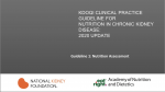 Speakers Guide - KDOQI Clinical Practice Guideline for Nutrition in CKD: 2020 Update: Guideline 1