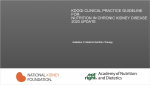 Speakers Guide - KDOQI Clinical Practice Guideline for Nutrition in CKD: 2020 Update: Guideline 2