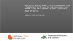 Speakers Guide - KDOQI Clinical Practice Guideline for Nutrition in CKD: 2020 Update: Guideline 3