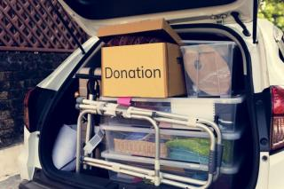 donations in the trunk