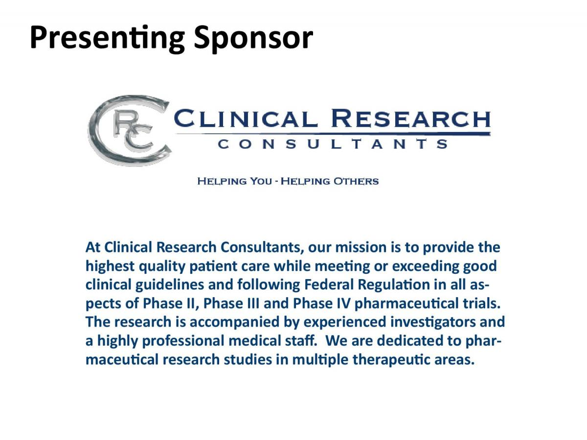 Clinical Research Consultants