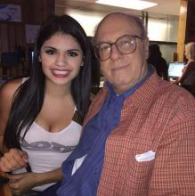 Picture of Hooters Girl Mariana Villarreal and Donald Thomas