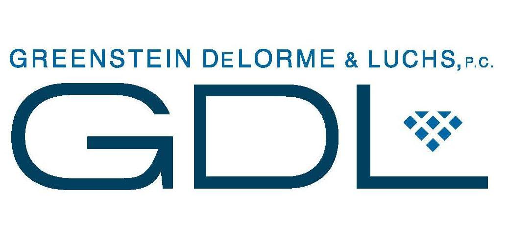 Greenstein, DeLorme, and Luchs logo